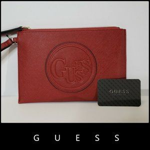 GUESS Large Women's Wristlet Wallet Red Nwt